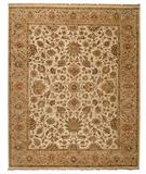 RugStudio presents Capel Boca Park-Tabriz 43615 Beige/Camel Hand-Knotted, Best Quality Area Rug