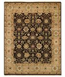 RugStudio presents Capel Gloria-Kuba 43765 Ebony/Beige Hand-Knotted, Best Quality Area Rug