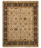 RugStudio presents Rugstudio Sample Sale 43766R Beige/Ebony Hand-Knotted, Best Quality Area Rug