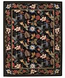 RugStudio presents Capel Floral Garden 43717 Black Hand-Hooked Area Rug
