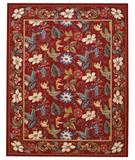 RugStudio presents Capel Floral Garden 43718 Red Hand-Hooked Area Rug