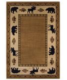 RugStudio presents Capel Cottage Grove 43652 Medium Brown Machine Woven, Better Quality Area Rug