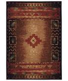 RugStudio presents Capel Badin 43565 Coffee Multi Machine Woven, Better Quality Area Rug