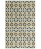 RugStudio presents Capel Blue Bell Leaf 43601 Blue Hand-Tufted, Good Quality Area Rug