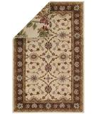 RugStudio presents Capel Reversibles 43968 Cream Hand-Tufted, Best Quality Area Rug