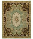 RugStudio presents Capel Evelyn 43696 Light Turquoise Hand-Tufted, Best Quality Area Rug