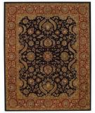 RugStudio presents Capel Monticello-Palmette 43886 Onyx/Rust Hand-Tufted, Best Quality Area Rug