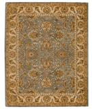 RugStudio presents Capel Monticello-Mahal 43880 Blue Slate/Cream Hand-Tufted, Best Quality Area Rug