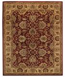 RugStudio presents Capel Monticello-Mahal 43881 Red Garnet Hand-Tufted, Best Quality Area Rug