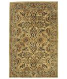 RugStudio presents Capel Piedmont-Isfahan 43929 Amber Hand-Tufted, Good Quality Area Rug