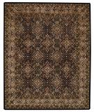 RugStudio presents Capel Piedmont-Agra 43922 Onyx Hand-Tufted, Good Quality Area Rug