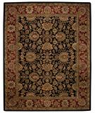RugStudio presents Capel Piedmont-Persian 43934 Ebony Hand-Tufted, Good Quality Area Rug