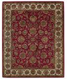 RugStudio presents Capel Piedmont-Persian 43935 Cinnabar/Ivory Hand-Tufted, Good Quality Area Rug