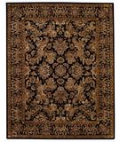 RugStudio presents Capel Piedmont-Flora 43924 Ebony/Brown Hand-Tufted, Good Quality Area Rug