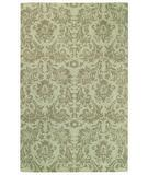 RugStudio presents Capel Piedmont-Floral Damask 43925 Light Turquoise Hand-Tufted, Good Quality Area Rug