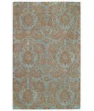 RugStudio presents Capel Piedmont-Floral Damask 43926 Spa Hand-Tufted, Good Quality Area Rug