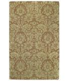 RugStudio presents Capel Piedmont-Floral Damask 43927 Coffee Hand-Tufted, Good Quality Area Rug