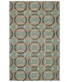 RugStudio presents Capel Desert Plateau-Ringlets 43668 Seafoam Hand-Tufted, Good Quality Area Rug