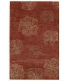 RugStudio presents Capel Desert Plateau-Hibiscus 43665 Red Hand-Tufted, Good Quality Area Rug