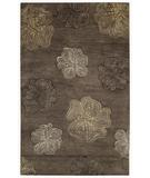 RugStudio presents Capel Desert Plateau-Hibiscus 43667 Brown Hand-Tufted, Good Quality Area Rug