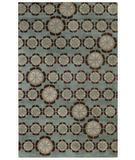 RugStudio presents Capel Morgan Hill-Florali 3398 Blue Evergreen 400 Hand-Tufted, Best Quality Area Rug