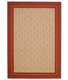 RugStudio presents Capel Springs-Tiles 44032 Red Machine Woven, Good Quality Area Rug