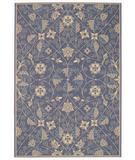 RugStudio presents Capel Elsinore-Garden Maze 43685 Blue Machine Woven, Good Quality Area Rug