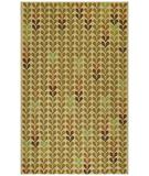 RugStudio presents Capel Hearts 43785 Green Hand-Hooked Area Rug