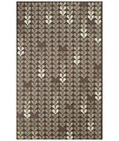 RugStudio presents Capel Hearts 43786 Grey Hand-Hooked Area Rug