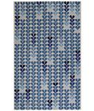 RugStudio presents Capel Hearts 43787 Blue Hand-Hooked Area Rug