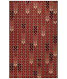 RugStudio presents Capel Hearts 43788 Red Hand-Hooked Area Rug