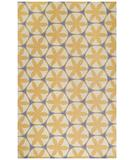 RugStudio presents Capel Charlotte 43633 Yellow Hand-Hooked Area Rug