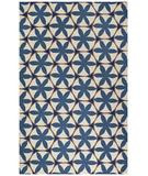 RugStudio presents Capel Charlotte 43635 Blue Hand-Hooked Area Rug