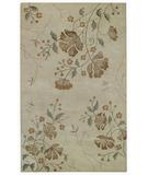 RugStudio presents Capel Brock Haven-Orchids 43622 Cream Hand-Tufted, Good Quality Area Rug