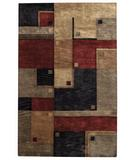 RugStudio presents Capel Left Bank 43825 Poppy Multi Hand-Tufted, Good Quality Area Rug