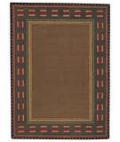 RugStudio presents Capel Castle Rock 43629 Brown Hand-Tufted, Good Quality Area Rug