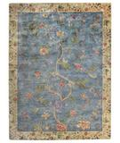 RugStudio presents Capel Garden Farms #3 43745 Blue Hand-Tufted, Good Quality Area Rug