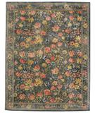 RugStudio presents Capel Garden Farms 9250 Blue/Pewter 450 Hand-Tufted, Good Quality Area Rug