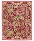 RugStudio presents Capel Garden Farms 43744 Red Hand-Tufted, Good Quality Area Rug