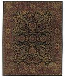 RugStudio presents Capel Forest Park-Herati 43723 Black Hand-Tufted, Best Quality Area Rug