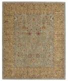 RugStudio presents Capel Forest Park-Persian Cedars 43728 Geen Hand-Tufted, Best Quality Area Rug