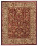 RugStudio presents Capel Forest Park-Persian Cedars 43730 Red Hand-Tufted, Best Quality Area Rug