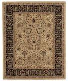 RugStudio presents Capel Forest Park-Persian Cedars 43732 Dark Beige Hand-Tufted, Best Quality Area Rug