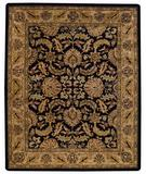 RugStudio presents Capel Forest Park-Floral Scroll 43722 Black/Beige Hand-Tufted, Best Quality Area Rug