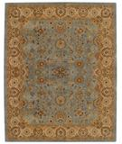 RugStudio presents Capel Forest Park-Medallions 43725 Medium Blue/Gold Hand-Tufted, Best Quality Area Rug