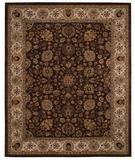RugStudio presents Capel Forest Park-Medallions 43726 Dark Coffee Hand-Tufted, Best Quality Area Rug