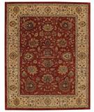 RugStudio presents Capel Forest Park-Zieglar 43738 Dark Red/Gold Hand-Tufted, Best Quality Area Rug