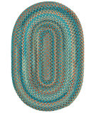 RugStudio presents Capel Jennie Lake 121952 Azure Braided Area Rug