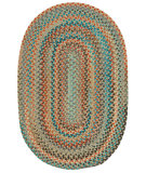 RugStudio presents Capel Jennie Lake 121953 Saddle Braided Area Rug