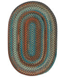 RugStudio presents Capel Jennie Lake 121954 Chestnut Braided Area Rug